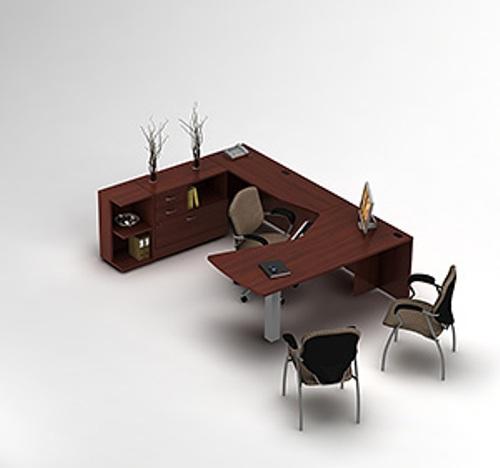 Global Layout 7 U Shaped Corner Desk