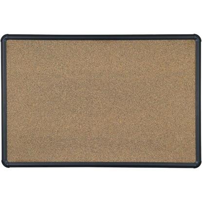 Picture of Balt E300PB-T1 2'H x 3'W Black Splash Cork Board