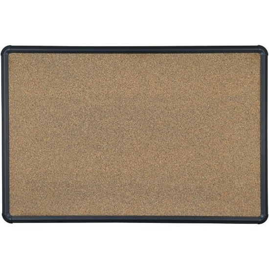 Picture of Balt E300PG-T1 4'H x 6'W Black Splash Cork Board