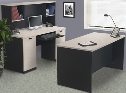 Picture of Bestar 69400-450 Computer Desk with Hutch