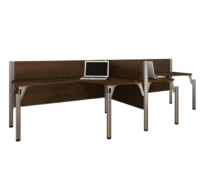 Picture of Bestar 100856A 2 Person L Shaped Desk