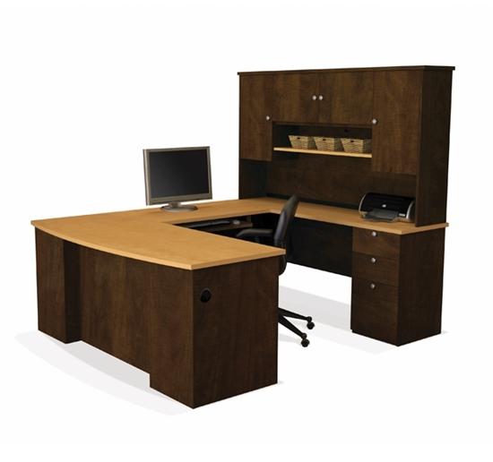 U Shaped Office Desk with Hutch | Bestar 81411