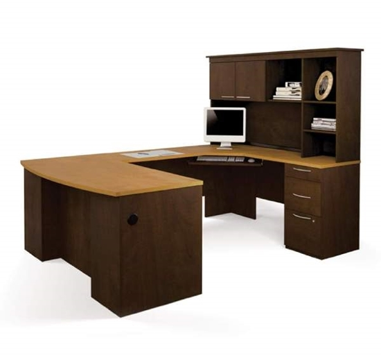 bestar 44430 u shaped desk with hutch rh furniturewholesalers com bestar ridgeley u-shaped desk with lateral file and bookcase bestar ridgeley u-shaped desk with lateral file and bookcase