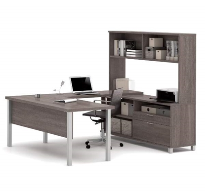 Picture of Bestar 120860 U-Shaped Desk with Hutch