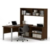 Picture of Bestar 120862 L-Shaped Desk with Hutch