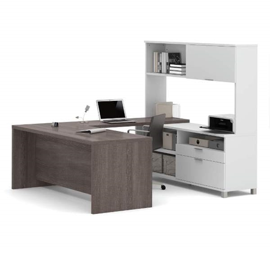 Picture of Bestar 120880 U-Shaped Desk with Hutch
