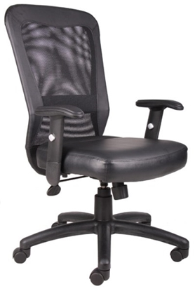 Picture of Boss B580 Black Mesh Office Chair