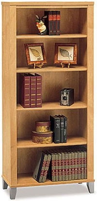 picture of bush wc8146503 5 shelf bookcase