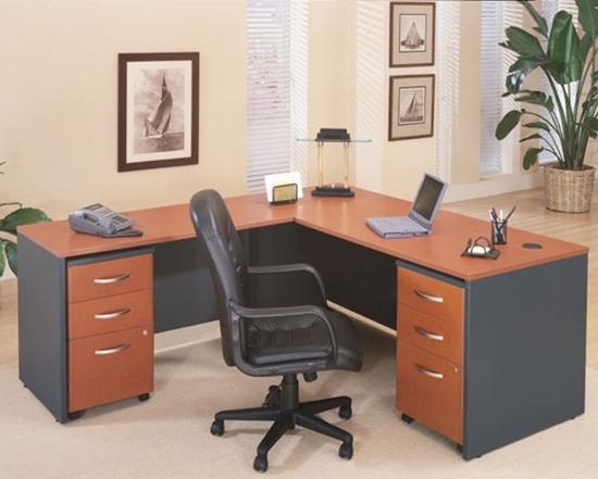 Picture of Bush COR002 L Shaped Desk