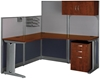 Picture of Bush OIH004 L Shaped Office Desk