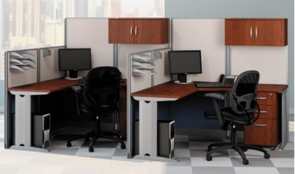 Picture of Bush OIH005 Two L Shaped Computer Desks