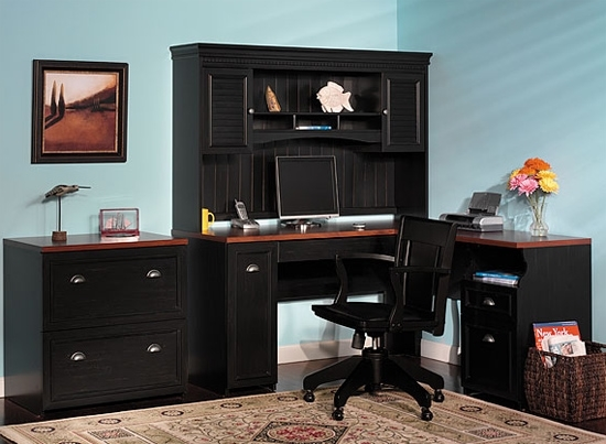 Picture of Bush WC53930 L Shaped Desk with Drawers