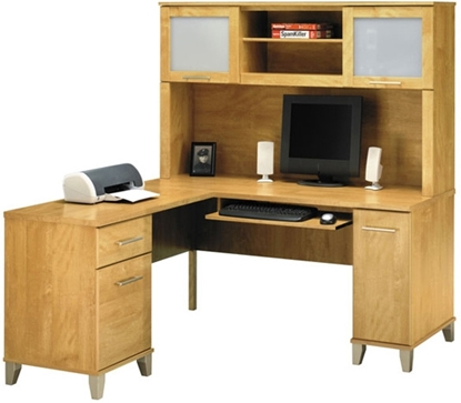 Picture of Bush WC81430-31 L Shaped Desk with Hutch