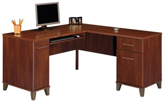 Merveilleux Picture Of Bush WC81730 L Shaped Corner Desk
