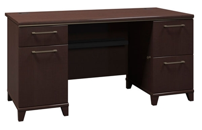 """Picture of Bush 2960 60"""" Office Desk with Drawers"""