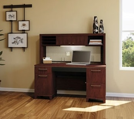"Picture of Bush 2960-2961 60"" Computer Desk with Hutch"