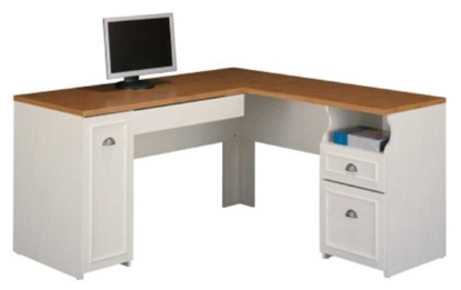 Picture of Bush WC53230 White L Shaped Office Desk