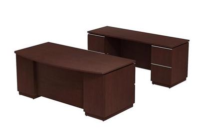Picture of Bush MI2022 Executive Desk & Credenza Set