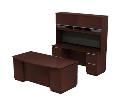 Picture of Bush MI2023 Executive Desk, Hutch & Credenza