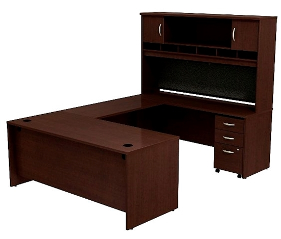 Picture of Bush SRC004 U Shaped Desk with Hutch