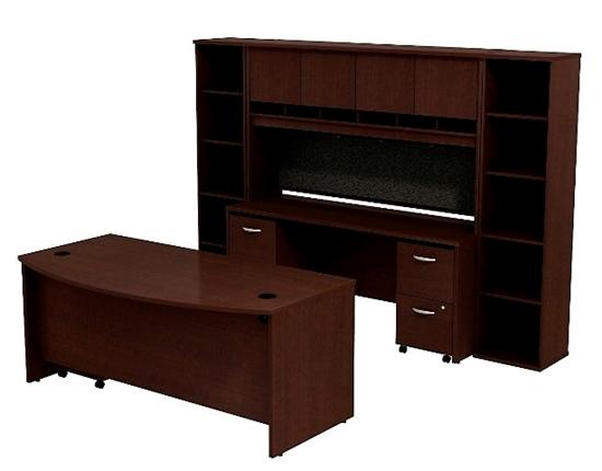 Bush Src0010 Executive Desk With Credenza Amp Hutch