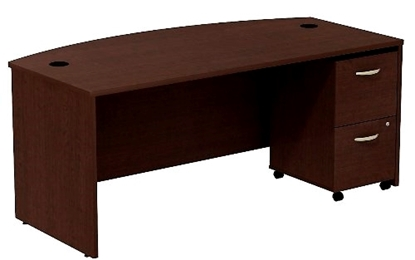 Picture of Bush SRC0020 Bow Front Office Desk