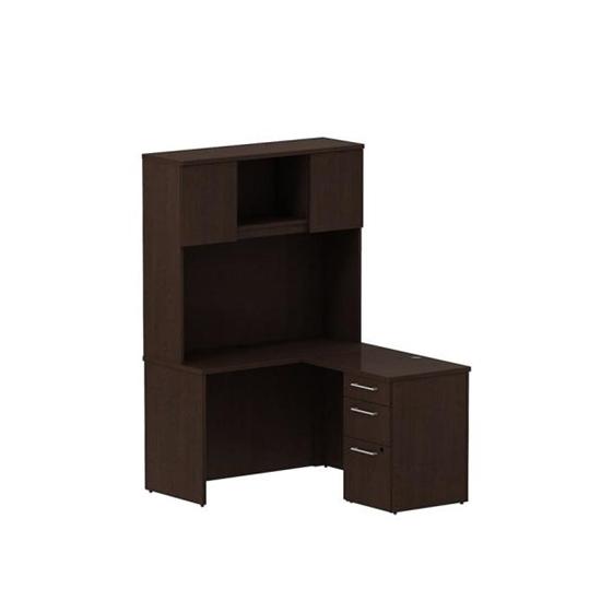 Bush S064 Small L Shaped Desk With Hutch