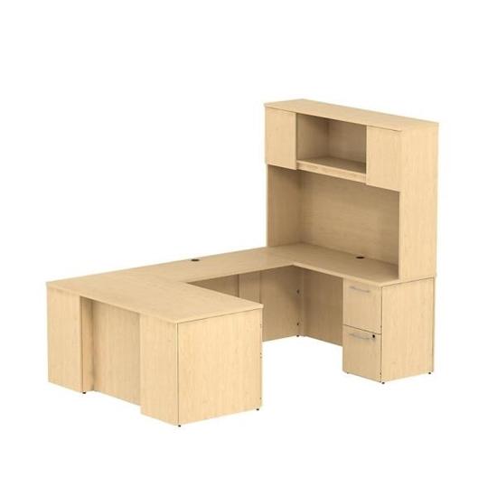 Bush S057 60 U Shaped Desk With Hutch