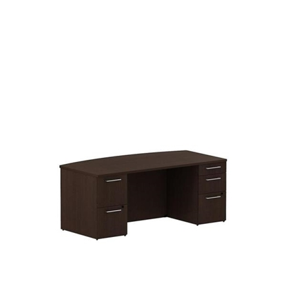 "Picture of Bush SDDB72 72"" Bow Front Office Desk"