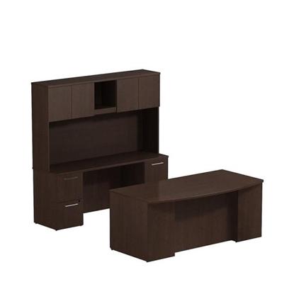 """Picture of Bush S045 72"""" Office Desk, Hutch & Credenza"""