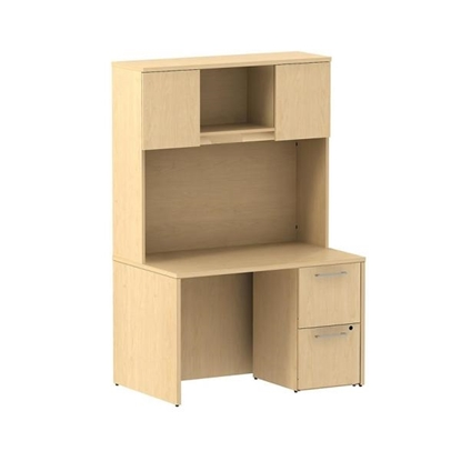 Picture of Bush S081 Small Office Desk with Hutch