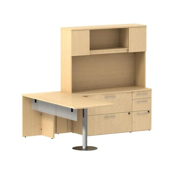 Bush L Shaped Desk With Hutch Bow Front Executive Desk