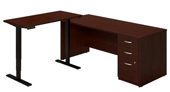 Picture of Bush SRE227 Sit Stand L Shaped Desk