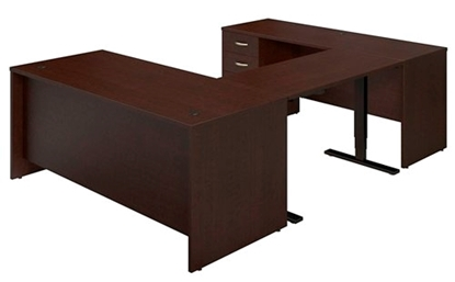 Picture of Bush SRE228 Sit Stand U Shaped Desk