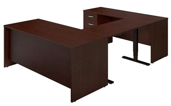 Picture of Bush SRE228 Sit Stand U Shaped Desk