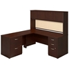 Picture of Bush SRE130 L-Shaped Desk with Hutch and Pedestals