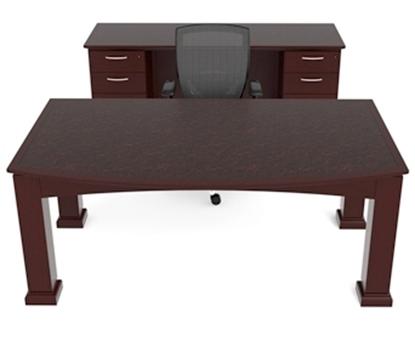 "Picture of Cherryman EM401-EM406 72"" Wood Veneer Table Desk"