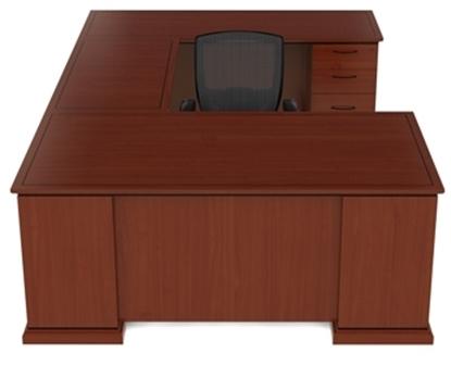 Picture of Cherryman EM-413N  U Shaped Desk with Wood Veneer