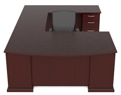 Picture of Cherryman EM-414N U Shaped Desk with Wood Veneer