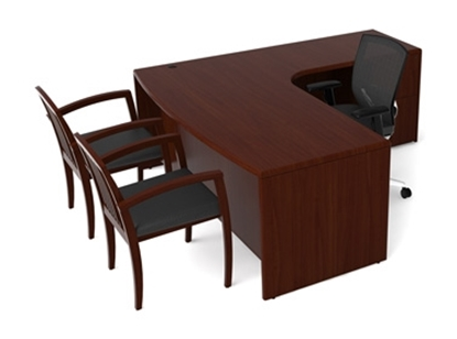 Picture of Cherryman RU-213 Wood Veneer L-Shaped Desk