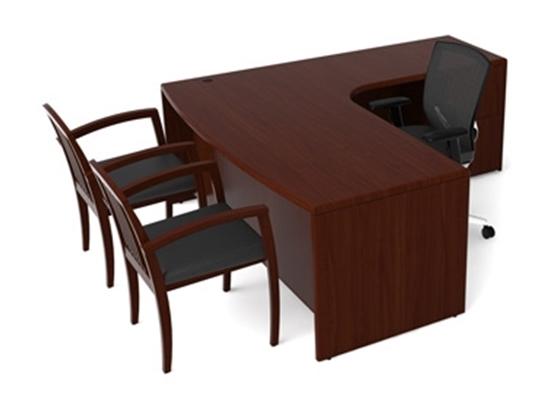 Picture of Cherryman RU-213 Wood Veneer L-Shaped Desk