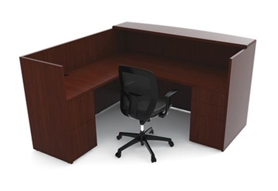 Picture of Cherryman RU-223N Wood Veneer Reception Desk