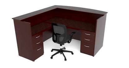 Picture of Cherryman EM-412N Wood Veneer Reception Desk