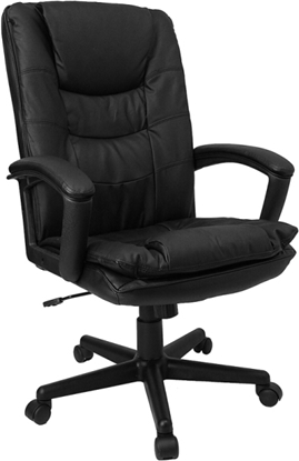 Picture of Flash Furniture BT-2921 Black Leather Chair