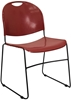 Picture of Flash Furniture RUT-188 Black Stacking Chair