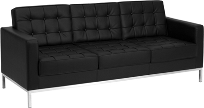 Picture of Flash Furniture ZB-Lacey-831-Sofa Black Leather Sofa