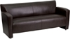 Picture of Flash Furniture 222-3-BK-GG Leather Waiting Room Sofa