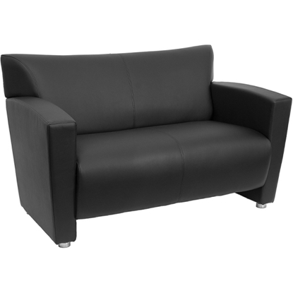 Picture of Flash Furniture 222-2-BK-GG Leather Office Love Seat