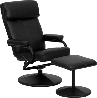 Picture of Flash Furniture BT-7863 Leather Recliner & Ottoman