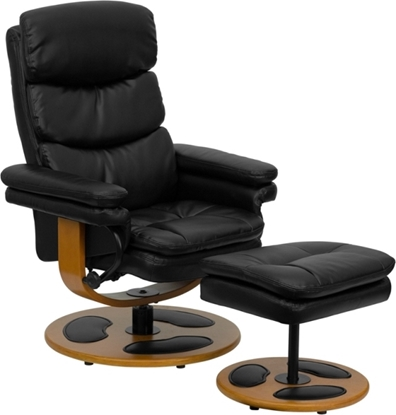 Picture of Flash Furniture BT-7828 Leather Recliner & Ottoman